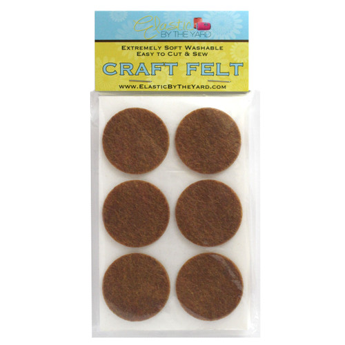 "1 1/2"" Copper Brown Adhesive Felt Circles 48 to 240 Dots"