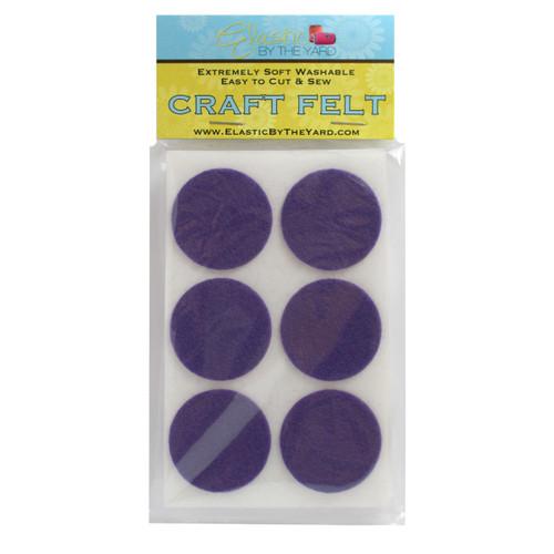 "1 1/2"" Orchid Adhesive Felt Circles 48 to 240 Dots"