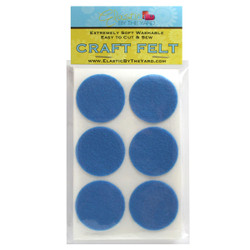 "1 1/2"" Blue Crystal Adhesive Felt Circles 48 to 240 Dots"