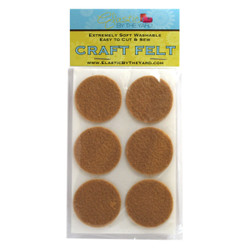 "1 1/2"" Tan Cashmere Adhesive Felt Circles 48 to 240 Dots"