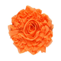 "Peach 3"" Sparkle Shabby Flower"