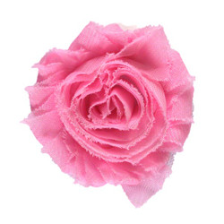 "Pink 2"" Shabby Rose Flower"