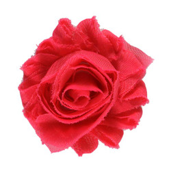 "Hot Pink 2"" Shabby Rose Flower"