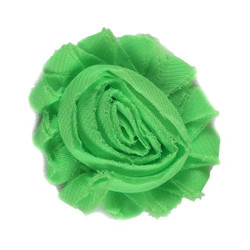 "Lime 2"" Shabby Rose Flower"