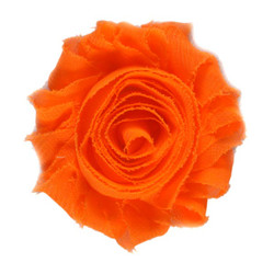 "Neon Orange 2"" Shabby Rose Flower"