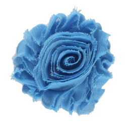 "Teal 2"" Shabby Rose Flower"