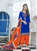 Elegant & Vibrant Blue Colored Cotton Suit