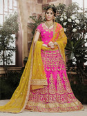 Incredibly Graceful Dark Pink Colored Net Lehenga