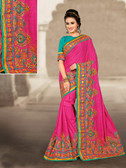 Charming & Vibrant Pink Colored Manipuri Catonic Silk Saree