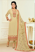 Casual & Colorful Beige Color Faux Georgette Suit