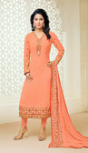Casual & Colorful Light Orange Color Faux Georgette Suit