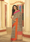 Elegant & Colorful Beige Colored Art Silk Premium Saree
