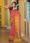 Elegant & Colorful Pink Colored Art Silk Saree