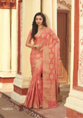 Elegant & Colorful Peach Colored Art Silk Premium Saree