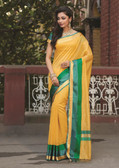 Elegant & Colorful Mango Colored Art Silk Saree