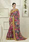Attractive & Graceful Multi Colored Fancy Art Silk Designer Wear Saree