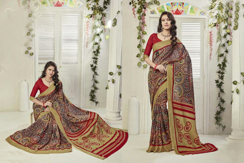 Attractive & Graceful Multi-Colored Fancy Art Silk Premium Saree