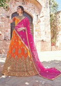 Glamorous & Exquisitely Crafted Yellow Colored  Heavy Designer Lehenga In Net