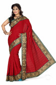 Stylish & Casual Maroon Colored Bhagalpuri Silk Saree