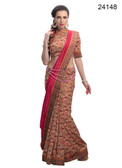 Elegant & Timeless Pink Colored Printed Designer Silk Saree