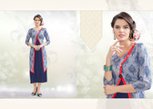 Colorful & Stylish Blue Colored Rayon Print Designer Kurti