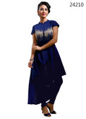 Delightfully Attractive Navy Blue colored Georgette Designer Kurti
