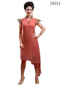 Delightfully Attractive Light Pink colored Georgette Kurti