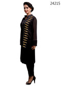 Delightfully Attractive Black colored Georgette Premium Kurti
