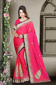 Fashionable & Timeless Rani Colored Art Silk Premium Saree