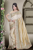 Fashionable & Timeless Beige Colored Art Silk Saree