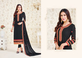 Charming & Elegant Black Colored Georgette Suit