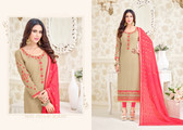 Charming & Elegant Beige Colored Georgette Suit
