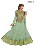 Fascinating & Timeless Light Green Colored Net jacaquard Salwar suit
