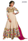 Fascinating & Timeless Cream Colored Net Salwar suit