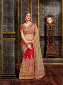 Elegant & Modern Red & Cream Colored Chennai Silk Saree