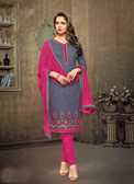 Trendy & Casual Grey Colored Tery Cotton Suit