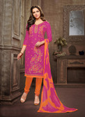 Trendy & Casual Pink Colored Tery Cotton Suit