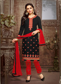 Trendy & Casual Black Colored Tery Cotton Suit