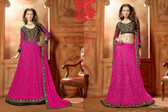 Timeless Elegance Pink & Black Color Net Suit