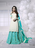 Charming & Attractive Off White Colored Georgette Suit