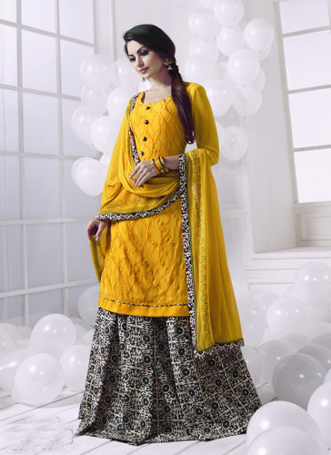Charming & Attractive Yellow Colored Georgette Suit