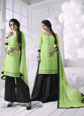 Charming & Attractive Green Colored Georgette Suit