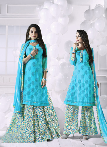 Charming & Attractive Blue Colored Georgette Suit