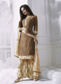 Charming & Attractive Brown Colored Georgette Suit