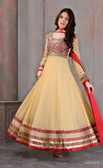 Modern Diva Beige Color Georgette Anarkali Suit