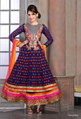 Modern Diva Blue color Georgette Anrkali Suit
