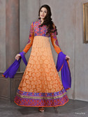 Modern Diva Orange color Brasso Georgette Anarkali Suit