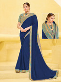 Alluring & Vibrant Violet Colored Chinnon Saree