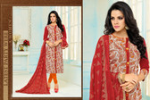 Beautiful & Modern Multi Colored Chanderi Cotton Unstitched Salwar Suit