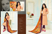 Beautiful & Modern Light Orange Colored Chanderi Cotton Unstitched Salwar Suit